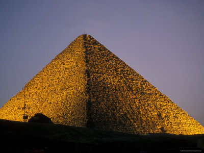 Pyramid at Dusk in Egypt Photographic Print by Richard Nowitz