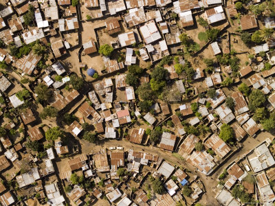 Poor Neighborhood in Urban Maputo, Mozambique Photographic Print by Michael Fay