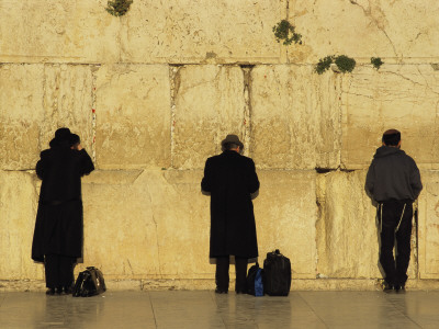 Jews Pray at the Western Wall Photographic Print by Annie Griffiths Belt