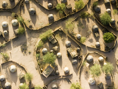 Typical Air Village as Seen Coming in from the North Towards Agadez, Niger Fotografisk tryk af Michael Fay