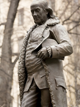 Statue of Ben Franklin in Boston, Massachusetts Photographic Print by Tim Laman