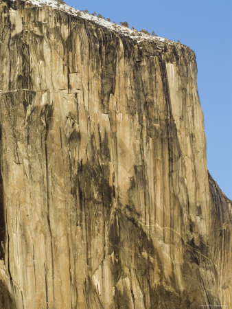 Winter Light on el Capitan Face in Yosemite National Park, California Photographie
