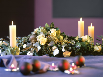 Festive Flower Arrangement as Table or Buffet Decoration ...