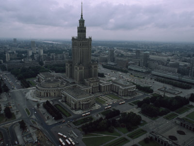 Warsaw's Palace of Culture and Surrounding Cityscape, Poland Photographic Print by James L. Stanfield