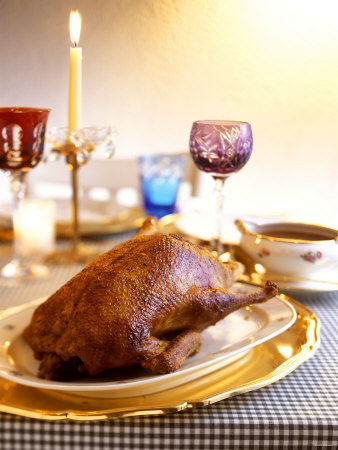 Festive Roast Duck Photographic Print