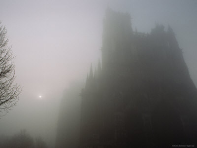 View in the Morning Mist of Notre-Dame in Amiens, France Photographic Print by James L. Stanfield