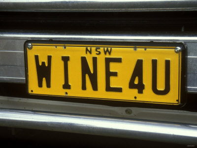 Wine for U Number Plate, Griffith, Australia Photographic Print by Steven Morris