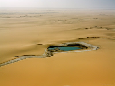 When There is Rain Water Accumulates in the Desert E of the Air Mtns, Niger Photographic Print by Michael Fay
