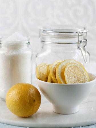 Ingredients for Salt-Pickled Lemons Photographic Print by Danya Weiner