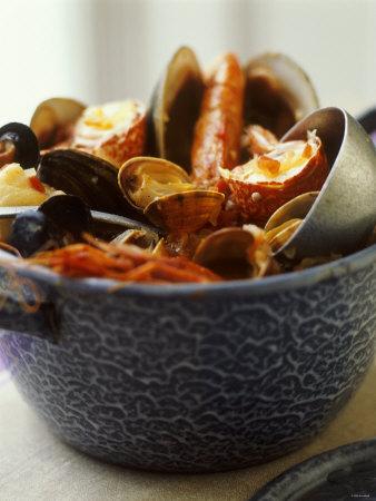 Zarzuela (Spanish Fish Stew) Photographic Print by Debi Treloar