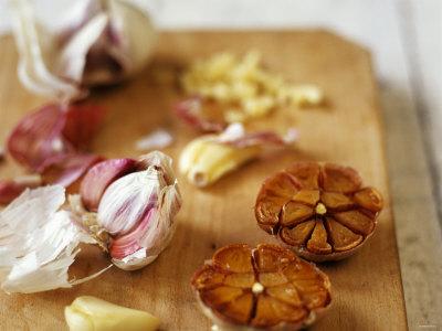 Garlic, Fresh and Roasted Photographic Print by Debi Treloar