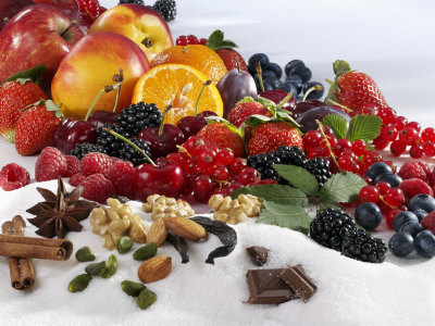 Assorted Fruit, Spices and Sugar Photographic Print by Karl Newedel