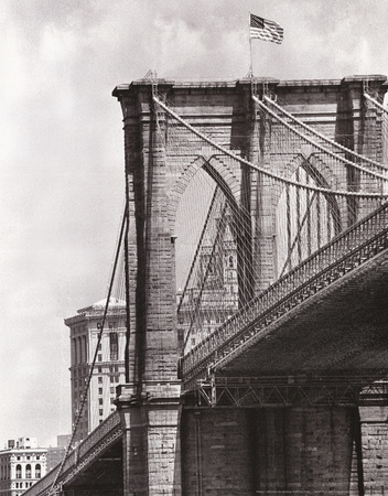 Brooklyn Bridge Perspective Poster by Phil Maier