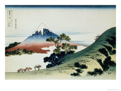 36 Views of Mount Fuji, no. 9: Inume Pass in the Kai Province Giclee Print by Katsushika Hokusai