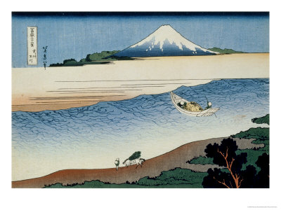 36 Views of Mount Fuji, no. 8: Tama River in the Musashi Province Giclee Print