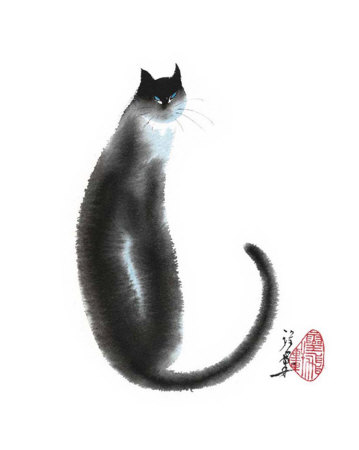 Chinese Cat II Reproduction d'art