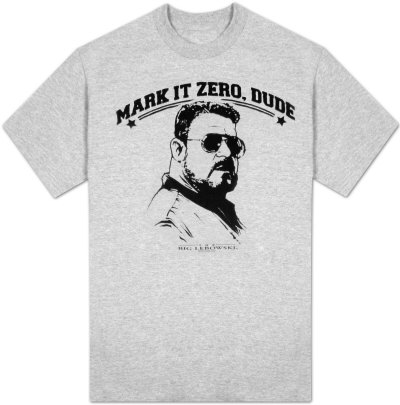 The Big Lebowski - Mark it Zero, Dude (Slim Fit) T-Shirt