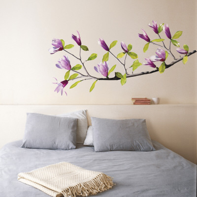 Magnolia Autocollant mural