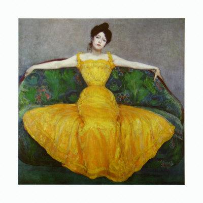 Lady in Yellow, c.1899 Art by Maximilian Kurzweil