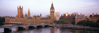 Westminster Bridge, Big Ben, Houses of Parliament, Westminster, London, England Photographic Print by  Panoramic Images