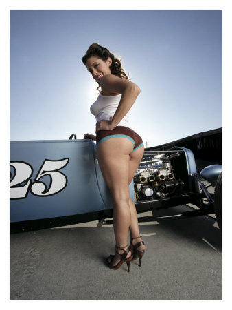 pin up on a ladies posing with cars can we if we don t get