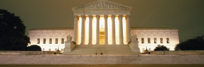 Supreme Court Building Illuminated at Night, Washington DC, USA things to see in Washington D.C. photo poster