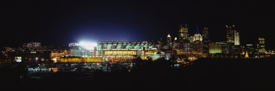 Stadium Lit Up at Night in a City, Heinz Field, Three Rivers Stadium, Pittsburgh, Pennsylvania, USA Photographie