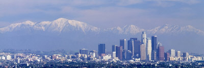 Snowcapped San Gabriel Mountains, Los Angeles, California, USA Photographie