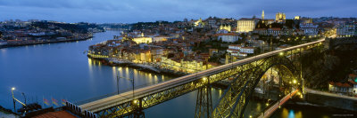 Dom Luis I Bridge, Oporto, Portugal Photographic Print by  Panoramic Images
