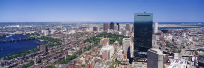 Aerial View of Boston, Cambridge, Massachusetts, USA Photographic Print by  Panoramic Images