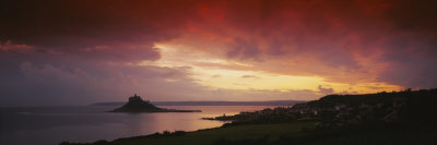 Clouds over an Island, St. Michael's Mount, Cornwall, England Photographic Print by  Panoramic Images