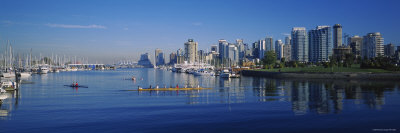 Boats Docked at the Harbor, Vancouver, British Columbia, Canada Photographic Print by  Panoramic Images