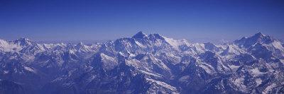 Aerial View of Himalayas, Kathmandu, Nepal Photographic Print by  Panoramic Images