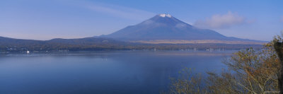 Lake in Front of a Mountain, Mt Fuji, Oshino, Minamitsuru, Yamanashi Prefecture, Japan Photographic Print by  Panoramic Images