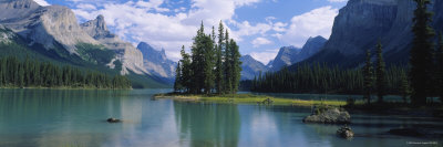 Lake Surrounded by Mountains, Banff National Park, Alberta, Canada Photographic Print by  Panoramic Images