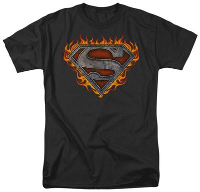 Superman - Iron Fire Shield T-Shirt