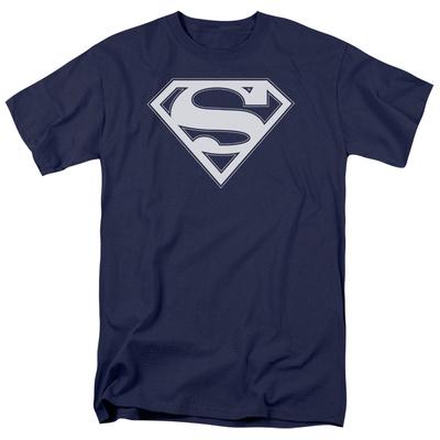 Superman - Navy & White Shield T-Shirt