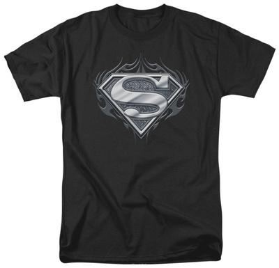 Superman - Biker Metal T-Shirt
