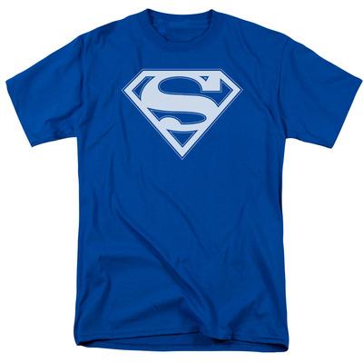 Superman - Blue & White Shield Shirt
