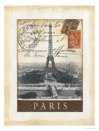 Destination Paris Giclée-tryk