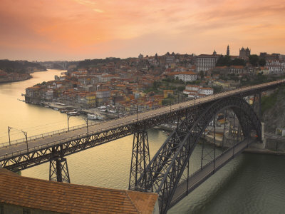 River Douro and Dom Luis I Bridge, Porto, Portugal Photographic Print