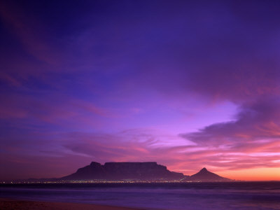 Table Mountain, Sunset, Cape Town, South Africa Photographic Print by Steve Vidler