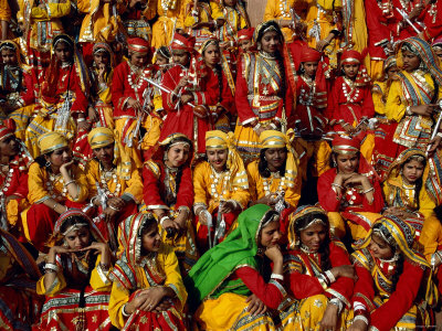 Republic Day Parade, People Dressed in Traditional Costume, Jaipur, Rajasthan, India Photographic Print by Steve Vidler
