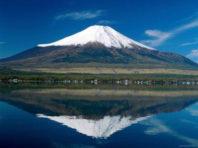 Mount Fuji, Lake Yamanaka, Fuji, Honshu, Japan Photographic Print by Steve Vidler