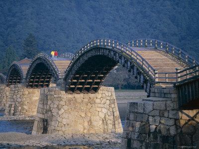 Brocade Sash Bridge, Iwakuni, Honshu, Japan Photographic Print by Steve Vidler