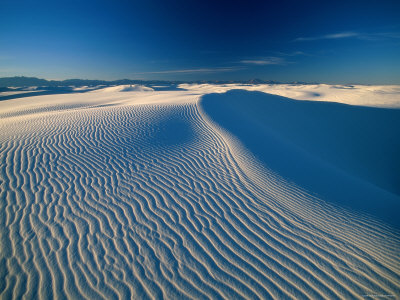 Sand Dunes, White Sands National Park, New Mexico, USA Photographic Print