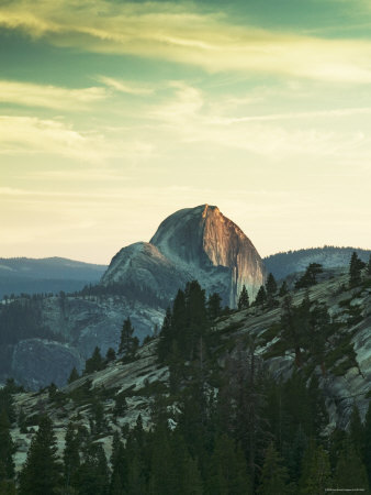 Half Dome from Olmstead Point, Yosemite National Park, California, USA Photographic Print by Walter Bibikow