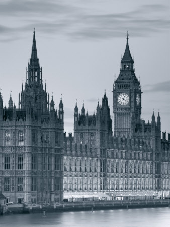 Big Ben and Houses of Parliament, London, England Lmina fotogrfica
