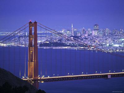 Golden Gate Bridge, San Francisco, California, USA Photographic Print by Walter Bibikow