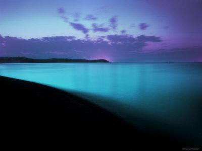 Glowing Turquoise Blue Waters Stampa fotografica di Jan Lakey
